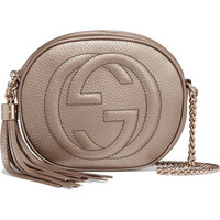 Gucci - Soho mini textured-leather shoulder bag