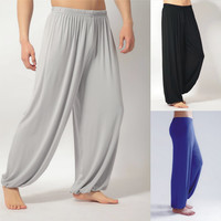 plus size yoga pants men and women Modal bloomers pants home tai chi joggers sweat Pants both free shipping