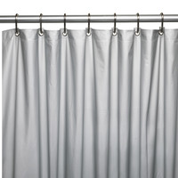 """Royal Bath Extra Heavy 8 Gauge Vinyl Shower Curtain Liner with Metal Grommets (72"""" x 72"""") - Silver"""