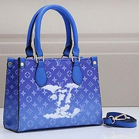 LV Louis Vuitton tie-dye color women's all-match handbag shoulder bag