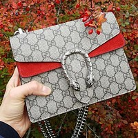 Dior GG classic tote bag GG print personality double-headed snake logo fashion ladies one-shoulder messenger bag