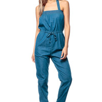 Perfect Bow Chambray Jumpsuit