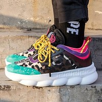 Versace fashion trend platform low-top casual sneakers shoes