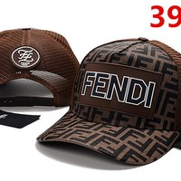 FENDI Women Men Embroidery Sports Sun Hat Baseball Cap Hat