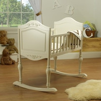 Sorelle Lisa Cradle w/ Mattress -  French White - 82