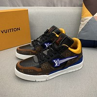 LV Louis Vuitton  Men Fashion Boots fashionable Casual leather Breathable Sneakers Running Shoes12