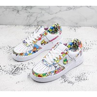 Custom Murakami Takashi Flower x Doraemon x Nike Wmns Air Force 1 Sport Shoes