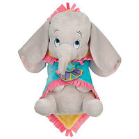 "disney parks 10"" baby dumbo plush toy with blanket new with tag"
