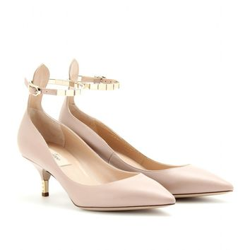 mytheresa.com -  Valentino - STUDDED KITTEN HEELS WITH ANKLE STRAP - Luxury Fashion for Women / Designer clothing, shoes, bags