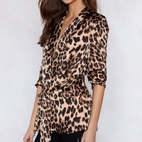 If Looks Could Kill Leopard Blazer