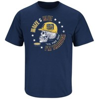 NCAA MICHIGAN WOLVERINES FANS MAIZE & BLUE 'TIL THE DAY I'M THROUGH T-SHIRT