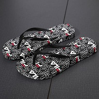 FILA Women Casual Print Beach Slippers Flats Shoes