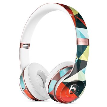 Vector Red and Blue 3D Triangular Surface Full-Body Skin Kit for the Beats by Dre Solo 3 Wireless Headphones