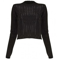 Anthony Vaccarello - Black army sweater | Just One Eye