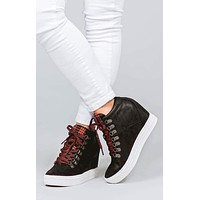 Tibi Lace-Up Not Rated Wedge Sneakers