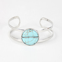 Marbled Stone Cut Out Cuff Bracelet
