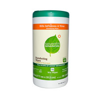 Seventh Generation Disinfecting Wipes Lemongrass and Thyme - 70 Wipes - Case of 6
