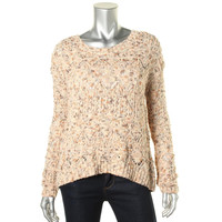 Hinge Womens Wool Knit Pullover Sweater