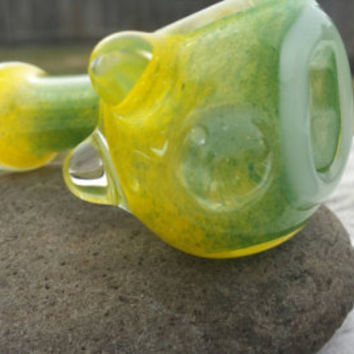 Oregon Ducks Glass Pipe pipes borosilicate american made spoon green yellow