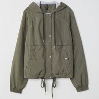 Hooded Jacket - Green - Ladies | H&M CA