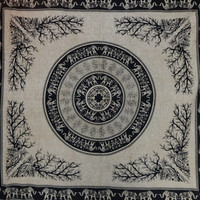 Queen Size Hippie Wall Tapestries, Wall Decor, Beach Throw, Tapestry Bedding, Picnic Blanket, Psychedelic Tapestry, Indian Tapestries