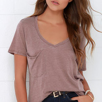 Z Supply Pleasant Surprise Mauve Tee