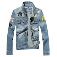 Trendy Men's Denim Jacket high quality fashion Jeans Jackets Slim fit casual streetwear Vintage Mens jean clothing Plus Size M-5XL AT_94_13