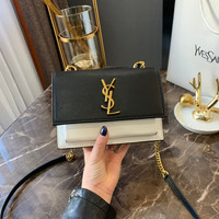 Saint Laurent YSL Leather Crossbody Shoulder bag