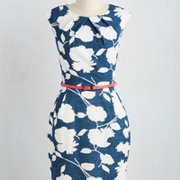 Teaching Classy Dress in Floral Silhouettes | Mod Retro Vintage Dresses | ModCloth.com