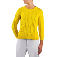Moon Womens Cable Knit Bracelet Sleeve Pullover Sweater