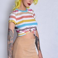 Yazzie Knotted Tee - Stripe