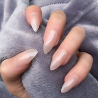 Sheer Mocha Stiletto – Doobys Nails