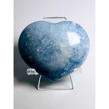 """""""Grounding & Protecting"""" Blue Calcite Heart"""