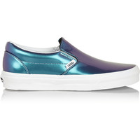 Vans   Holographic leather slip-on sneakers   NET-A-PORTER.COM