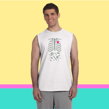 Ribcage with Candy Belly Sleeveless T-shirt