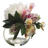 Peony and Lilac Arrangement