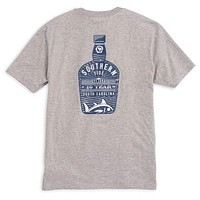 Bourbon Bottle T-Shirt in Grey by Southern Tide