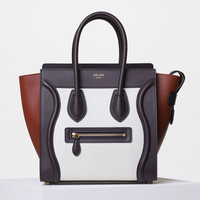 Micro Luggage Handbag in Multicolor Smooth Calfskin