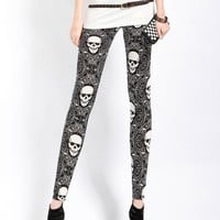 Skull Print Leggings - On sale for $12.99