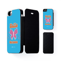 Sassy - Hello Gorgeous #10433 Black Flip Case for iPhone 5/5s by Sassy Slang