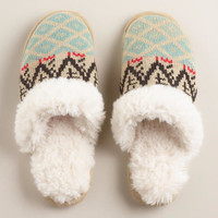 Oat Sherpa Slippers | World Market