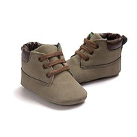 Babe Infant Toddler Soft Soled Boots 5 Colors Newborn Baby Kids Boys Classic Handsome First Walkers Shoes