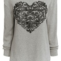 Buy Embellished Heart Brushed Top from the Next UK online shop