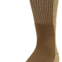 Field & Stream Men's 2 Pair Pack Full Cushion Crew Socks With Marled Footbed, Khaki, 10-13