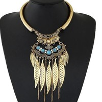 Jewelry New Arrival Gift Shiny Leaf Tassels Metal Stylish Accessory Necklace [6586305735]