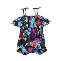 Baby Girl Kid Sling Bandage Floral Romper Outfits Costume Baby Clothing