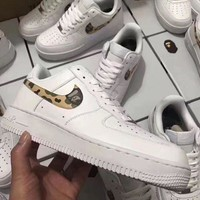 Nike Air Force 1 Bape White For Women Men Running Sport Casual Shoes Sneakers
