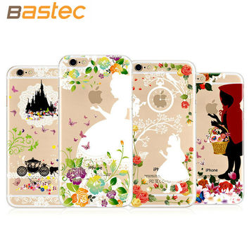 New Fashion Lovely Cartoon Ultra-thin Phone Cover Snow white/Alice - Case for iPhone 6s 6 Plus 5s