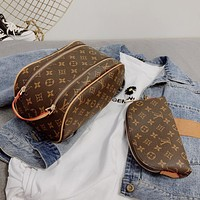 Louis Vuitton LV new style foreign fashion all-match cosmetic bag simple clutch bag
