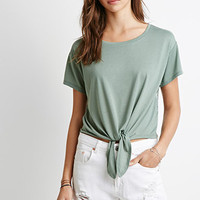 Lacy Knotted Tee